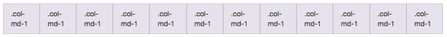 12 .col-md-1 Divs Side By Side