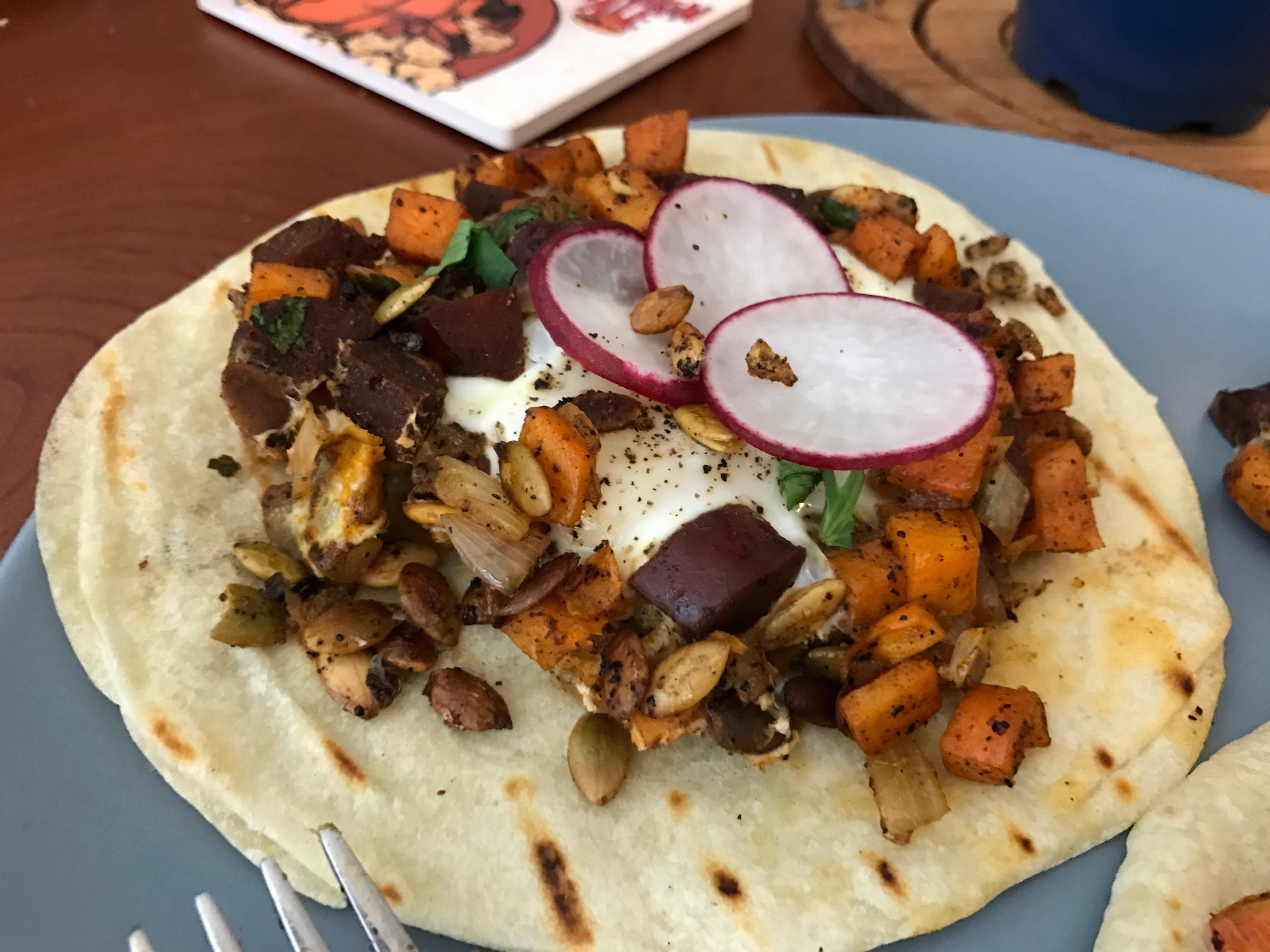 Fall Breakfast Taco