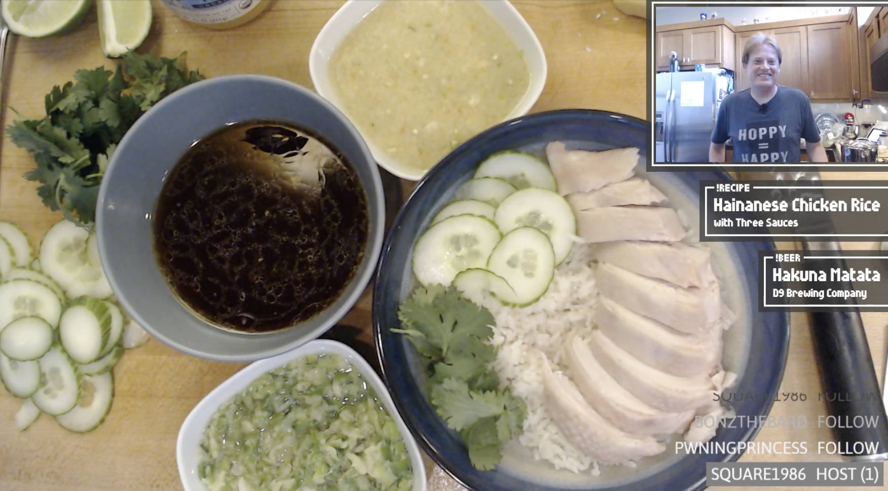 An example screenshot with a plating of Hainanese chicken rice.